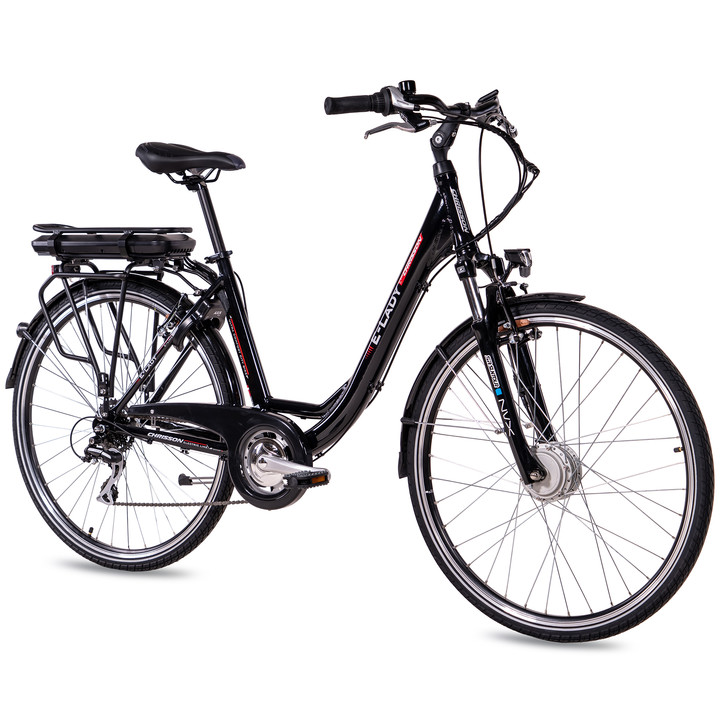 28 Zoll E-Bike City Damen CHRISSON E-LADY mit 8 Gang Shimano Acera Ananda Motor schwarz