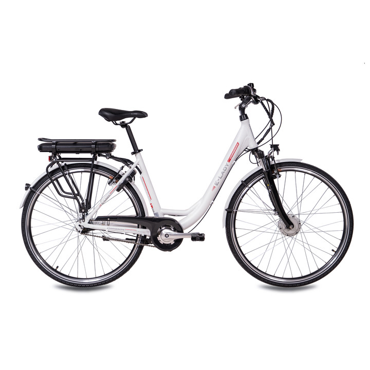 28 Zoll E-Bike City Damen CHRISSON E-LADY mit 7 Gang Shimano Nexus Ananda Motor weiss