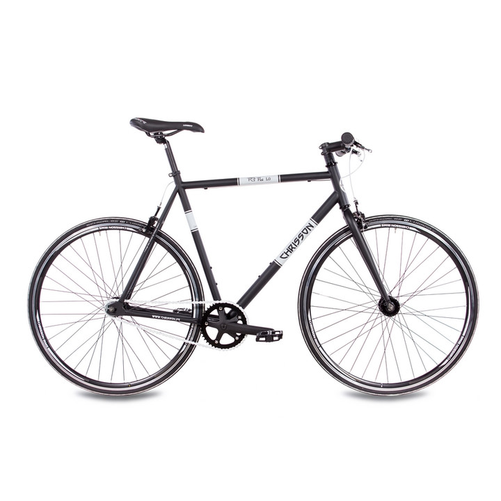 28 Zoll Singlespeed Fixie Bike CHRISSON FG FLAT 1.0 schwarz-matt