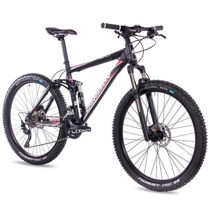27,5 Zoll Mountainbike Fully CHRISSON HITTER FSF mit 30 Gang Shimano Deore schwarz-rot
