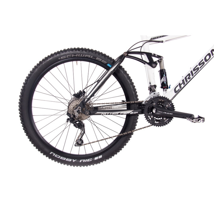 27,5 Zoll Mountainbike Fully CHRISSON HITTER FSF mit 30 Gang Shimano Deore schwarz-weiß